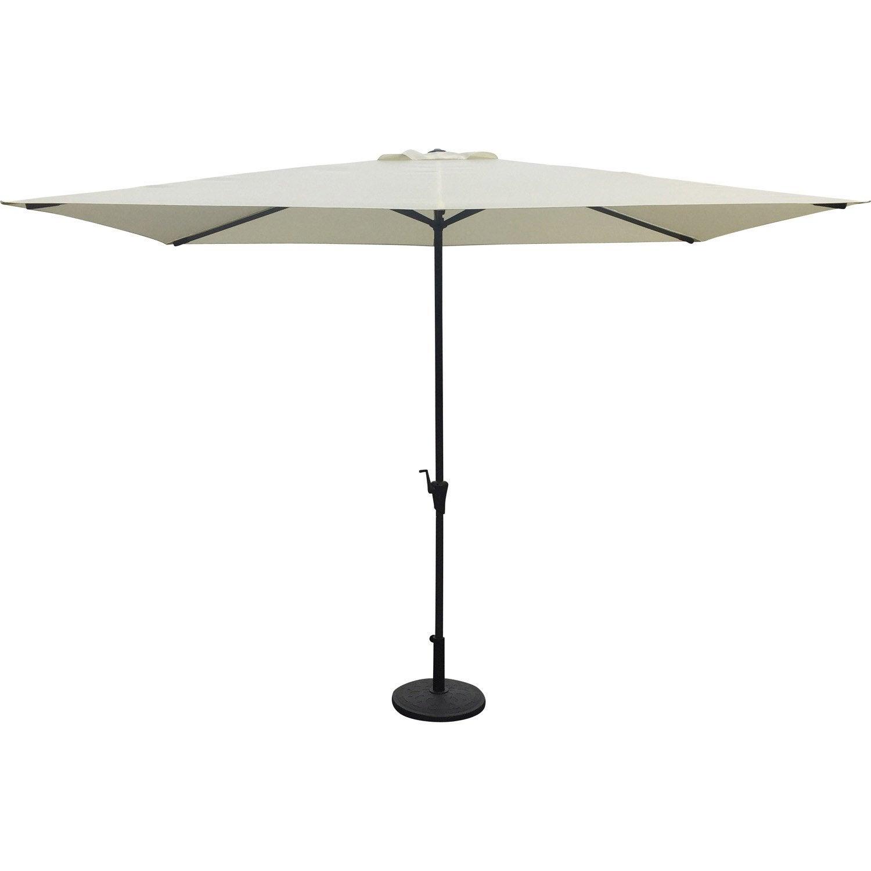 parasol droit luxe cru rectangulaire x cm. Black Bedroom Furniture Sets. Home Design Ideas