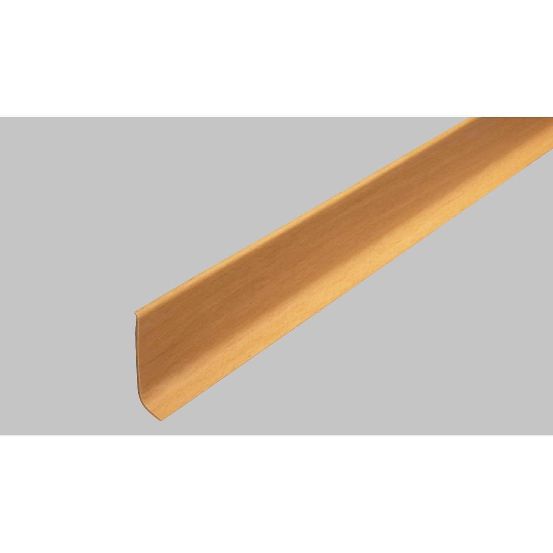 Plinthe pvc imitation h tre 15 x 60 mm l 2 5 m leroy merlin - Plinthe meuble cuisine leroy merlin ...