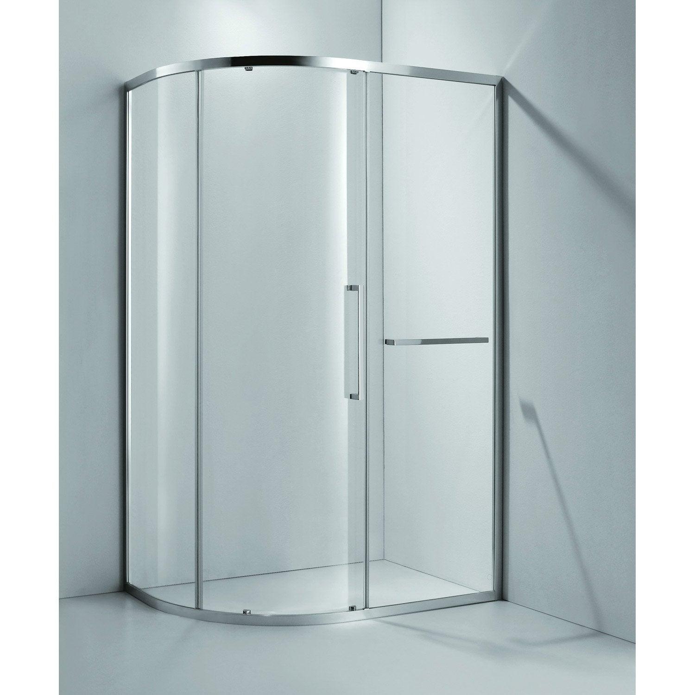 Porte de douche coulissante sensea purity 2 verre for Porte verre coulissante leroy merlin