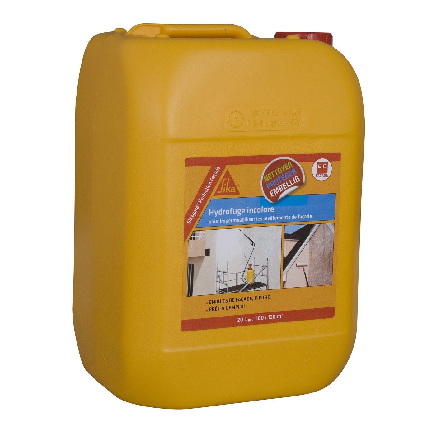 Imperm abilisant sika sikagard 20 l incolore leroy merlin for Sika peinture piscine