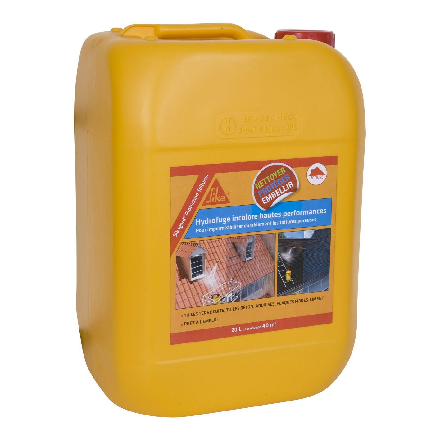 Imperm abilisant sika sikagard 20 l incolore leroy merlin - Hydrofuge toiture leroy merlin ...