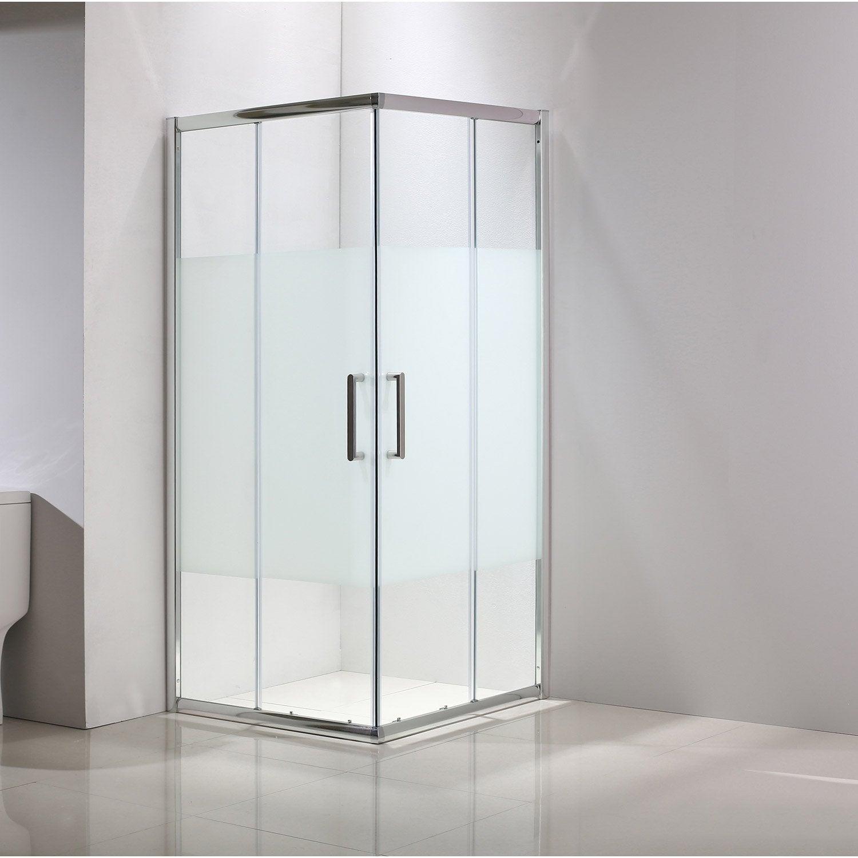 Porte de douche angle carr cm x cm - Leroy merlin porte de douche ...