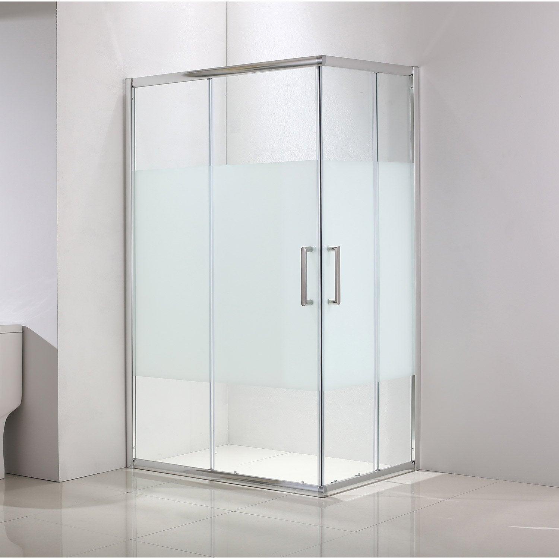 Porte de douche angle rectangle cm x cm for Porte de douche 90x90