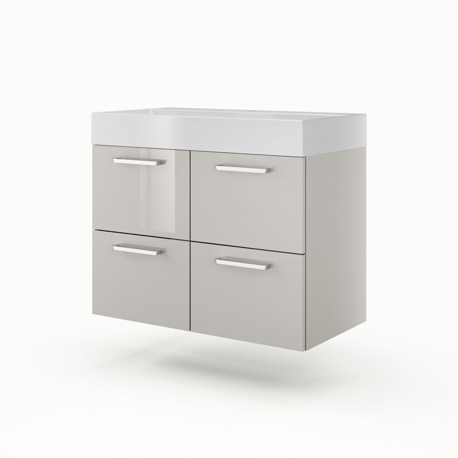 Meuble vasque 90 cm taupe neo line leroy merlin for Meuble 90 cm