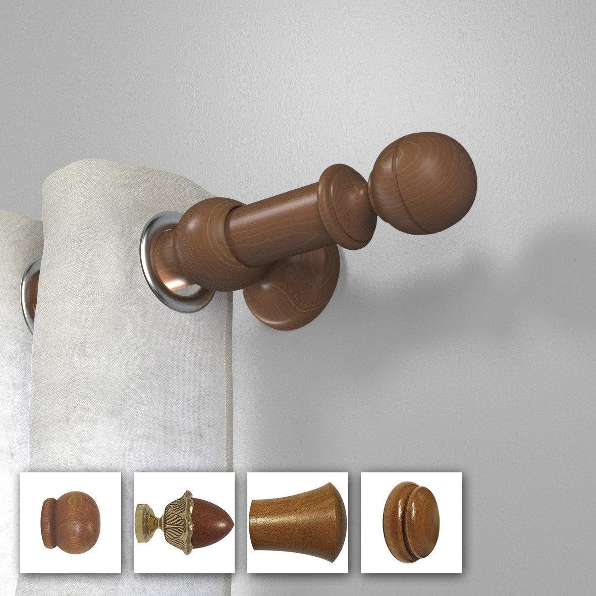 tringle rideau composer inspire tradi d35 merisier. Black Bedroom Furniture Sets. Home Design Ideas