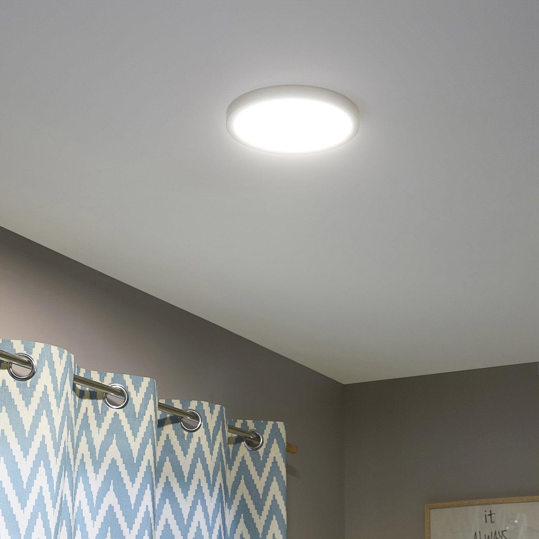 kit de 1 spot encastrer ou fixer kars fixe led inspire led int gr e blanc leroy merlin. Black Bedroom Furniture Sets. Home Design Ideas
