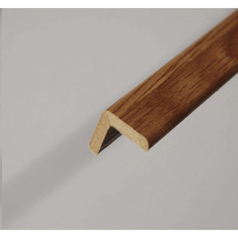 Baguette d 39 angle m dium mdf imitation ch ne clair 20 x for Baguette d angle pour enduit exterieur