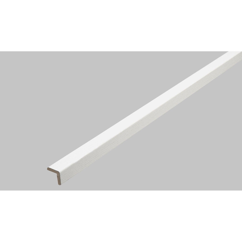 baguette d 39 angle m dium mdf imitation fr ne blanc 20 x. Black Bedroom Furniture Sets. Home Design Ideas