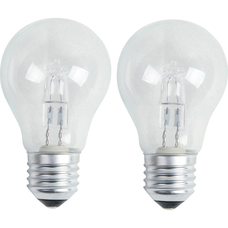 2 ampoules standards halog nes 46w lexman e27 lumi re. Black Bedroom Furniture Sets. Home Design Ideas