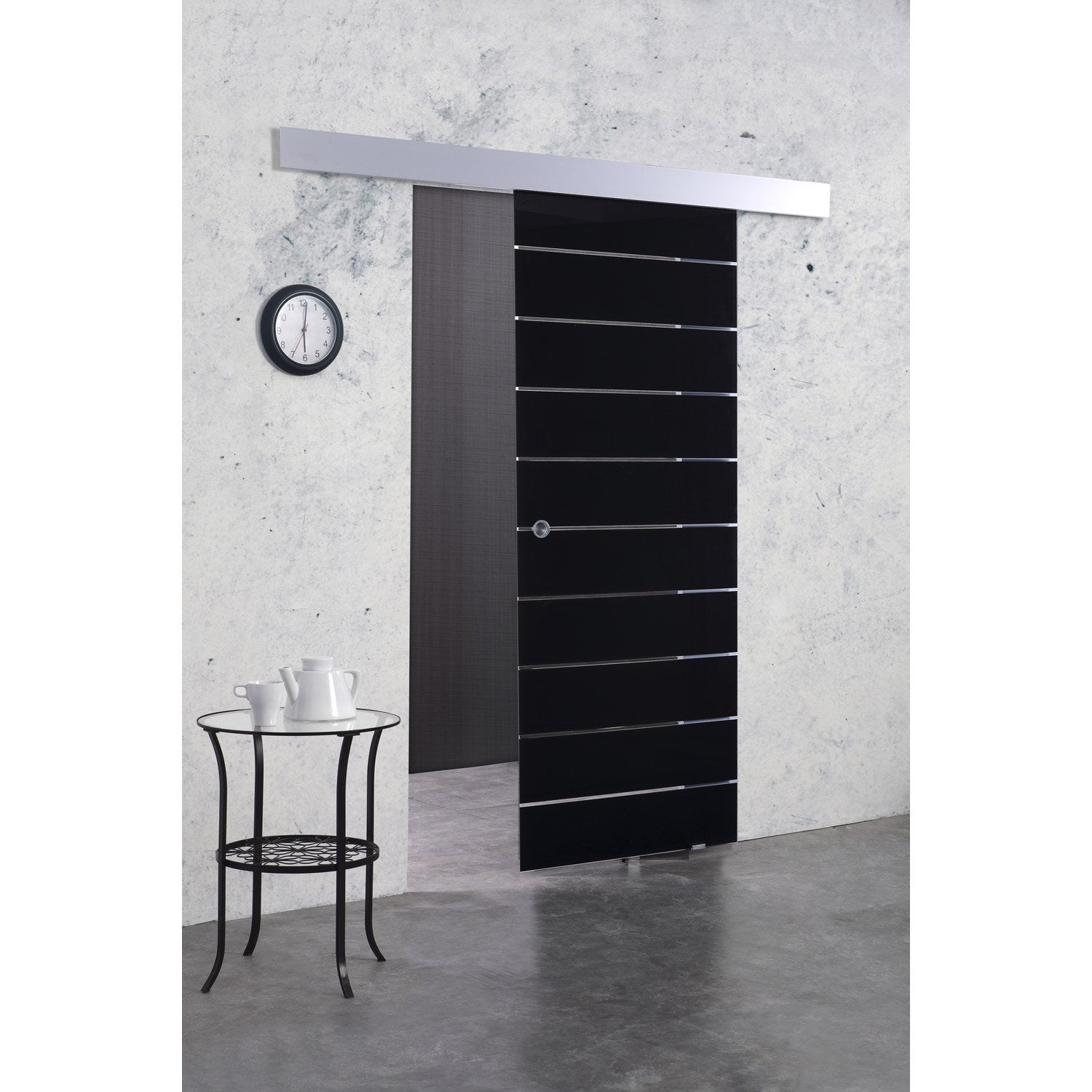 porte coulissante verre tremp floride artens 204 x 83 cm leroy merlin. Black Bedroom Furniture Sets. Home Design Ideas