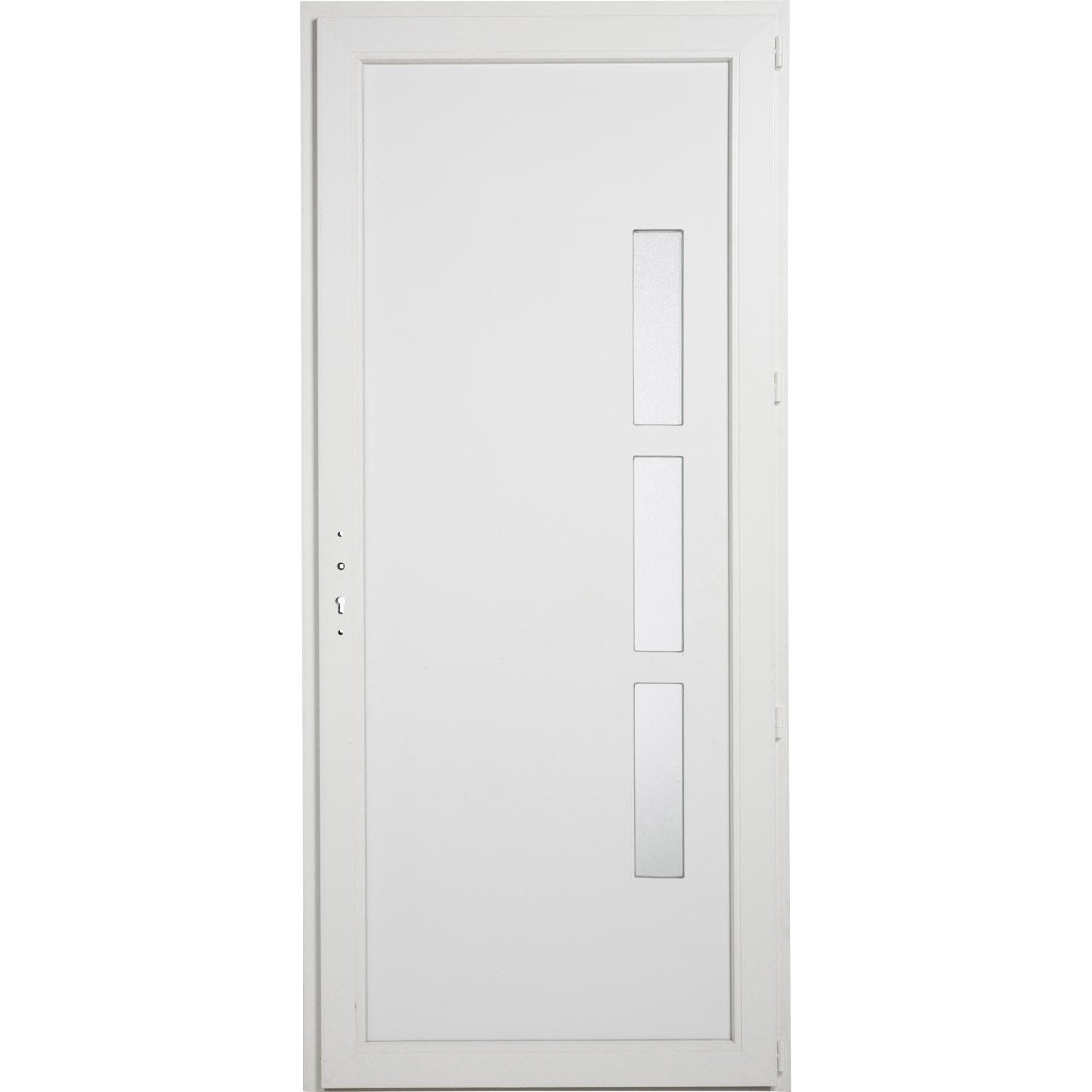 Porte de service pvc manhattan primo poussant droit for Porte simple