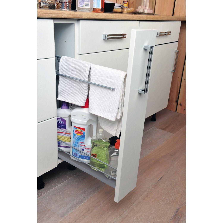 Rangement coulissant torchons bouteilles pour meuble l for Amenagement de cuisine coulissants