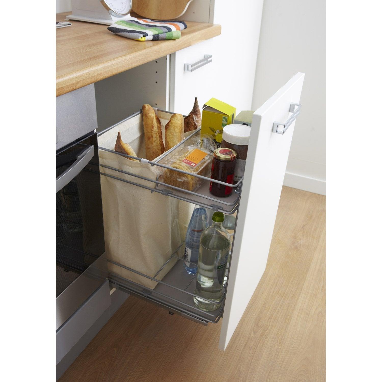 rangement coulissant pain et bouteilles pour meuble cm delinia leroy merlin. Black Bedroom Furniture Sets. Home Design Ideas