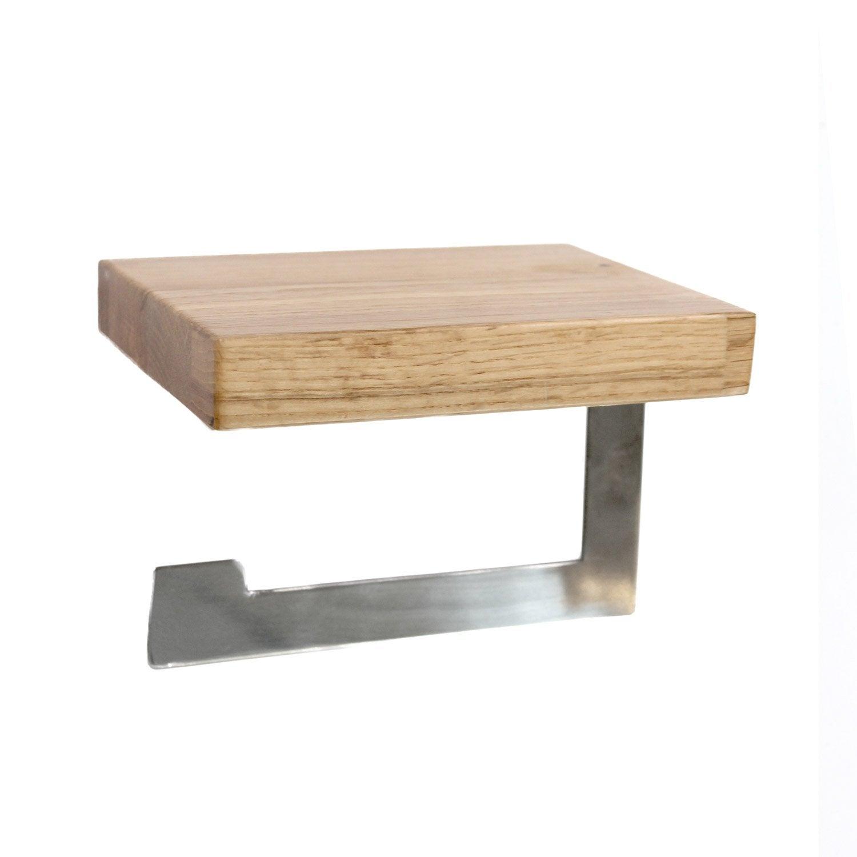 d rouleur de papier toilette sans couvercle oslo coloris naturel leroy merlin. Black Bedroom Furniture Sets. Home Design Ideas