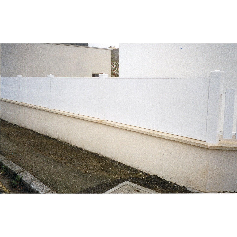 cl ture pvc morlaix naterial blanc x cm. Black Bedroom Furniture Sets. Home Design Ideas