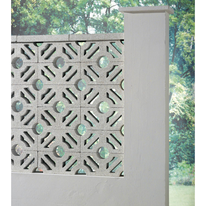 Claustra en b ton blanc x x p 9 cm leroy merlin - Beton decoratif exterieur leroy merlin ...