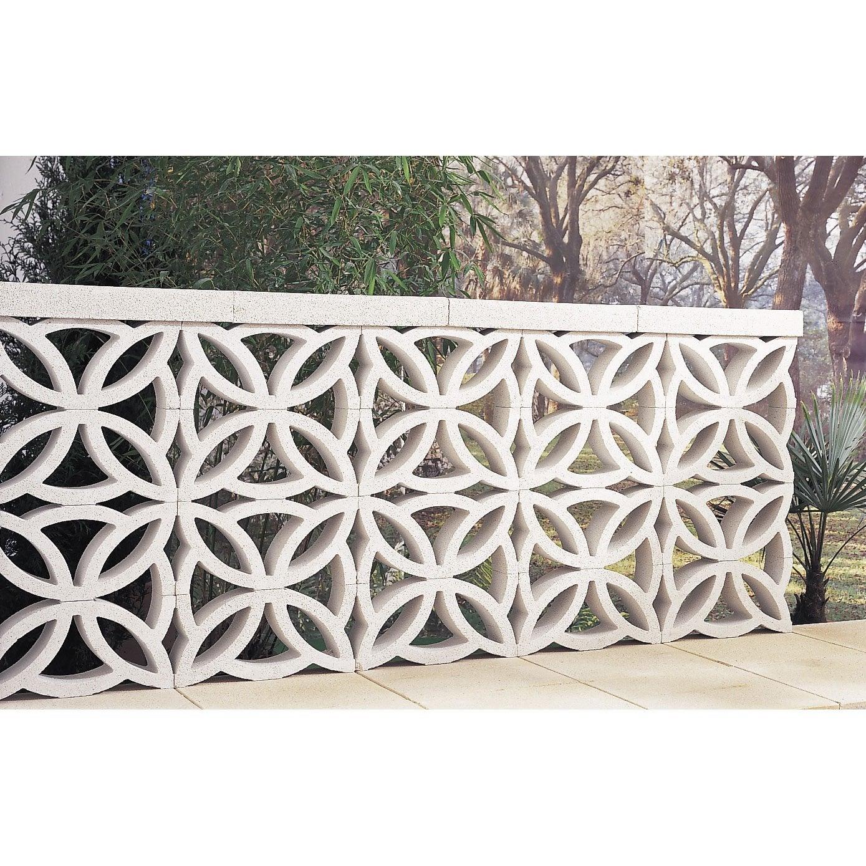 claustra en b ton ocre x x p 9 cm leroy merlin. Black Bedroom Furniture Sets. Home Design Ideas