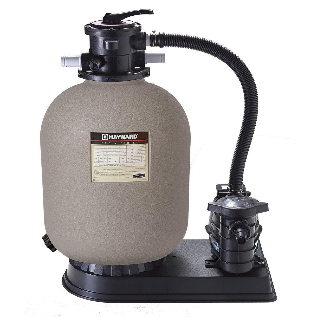 Kit de filtration sable hayward powerline 10 m3 10 m h for Sable filtration