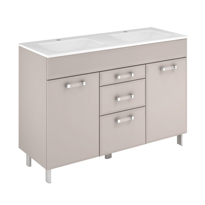 meuble vasque 121 cm gr ge opale leroy merlin. Black Bedroom Furniture Sets. Home Design Ideas