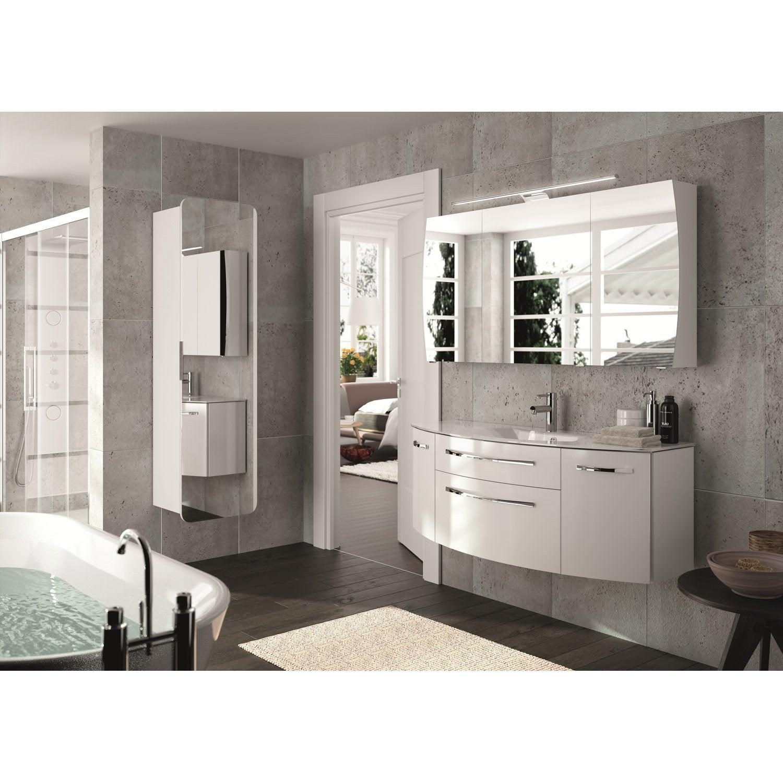 Meuble de salle de bains plus de 120 blanc beige - Mitigeur thermostatique salle de bain ...