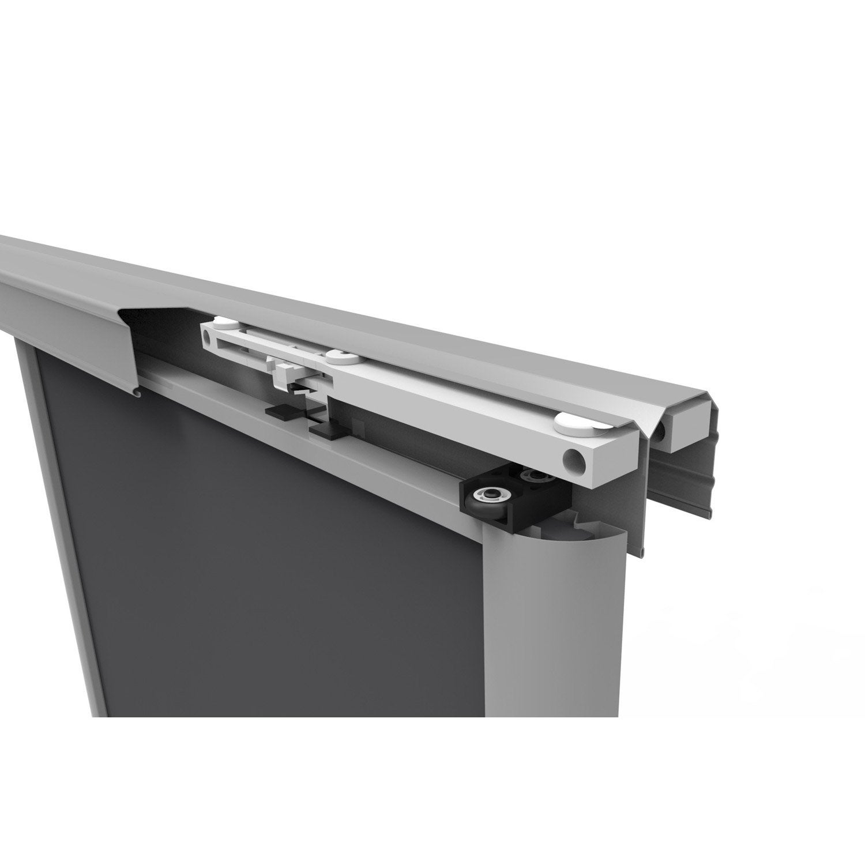 Kit pour amortisseurs spaceo laqu aluminium l 8 8 cm for Fixation porte coulissante suspendue