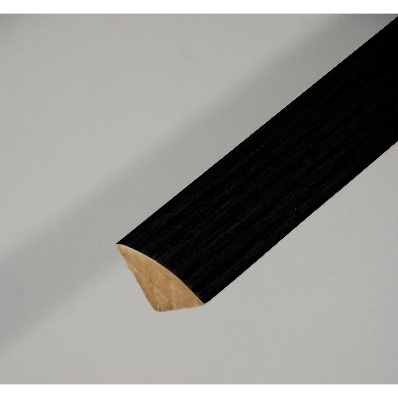 Quart de rond m dium mdf noir 14 x 14 mm l 2 4 m leroy merlin - Baguette quart de rond ...