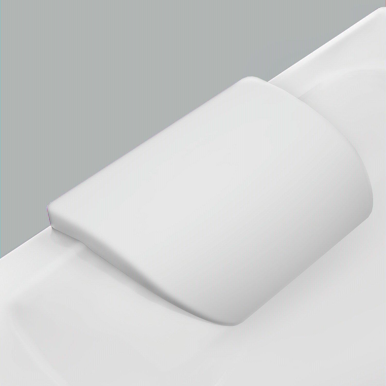 repose t te cm blanc idealsmart leroy merlin. Black Bedroom Furniture Sets. Home Design Ideas