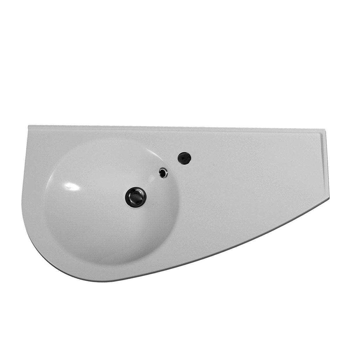 Plan vasque esquisse gauche 85x44 leroy merlin for Leroy merlin plan vasque