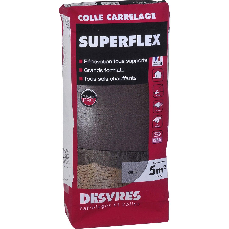 Mortier colle superflexible pour carrelage mur et sol 25 kg gris leroy merlin - Colle polyurethane bois ...