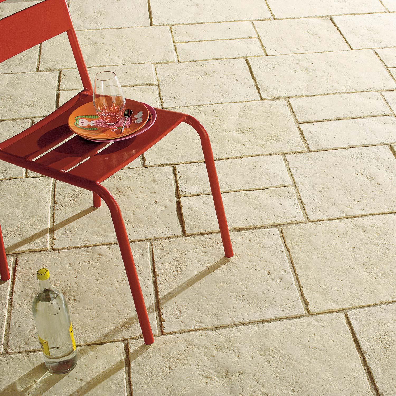 Dalle pierre reconstitu e c vennes ton pierre 60x40 40x40 40x20 x mm - Dalle de beton leroy merlin ...