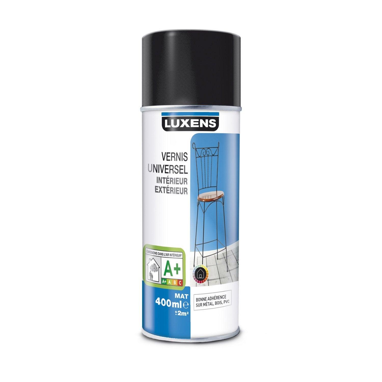 Vernis en bombe a rosol mat luxens incolore 0 4 l - Peinture en bombe pour plastique ...
