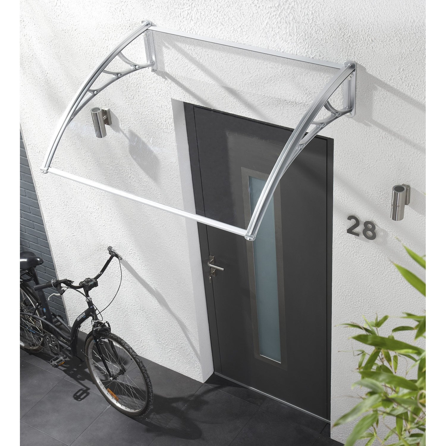 Auvent en kit atlanta artens x x cm for Porte de garage chez leroy merlin