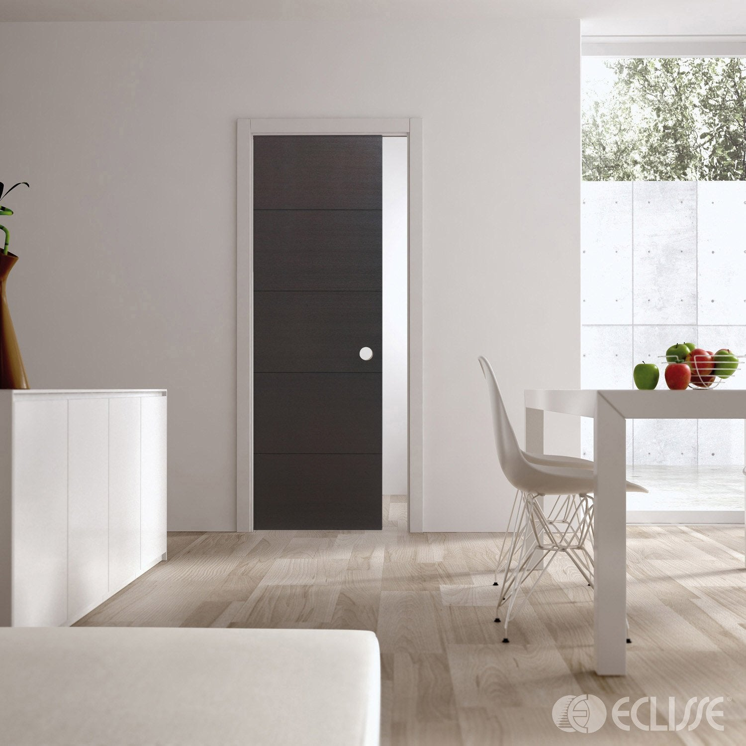 ensemble porte coulissante tokyo weng avec galandage. Black Bedroom Furniture Sets. Home Design Ideas