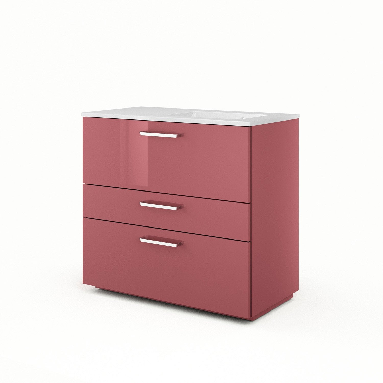 meuble vasque 91 cm rouge neo line leroy merlin. Black Bedroom Furniture Sets. Home Design Ideas