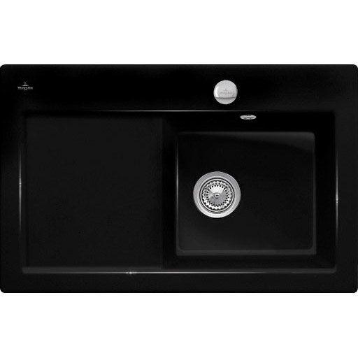 evier encastrer c ramique noir ev6714 01 36 1 bac avec. Black Bedroom Furniture Sets. Home Design Ideas