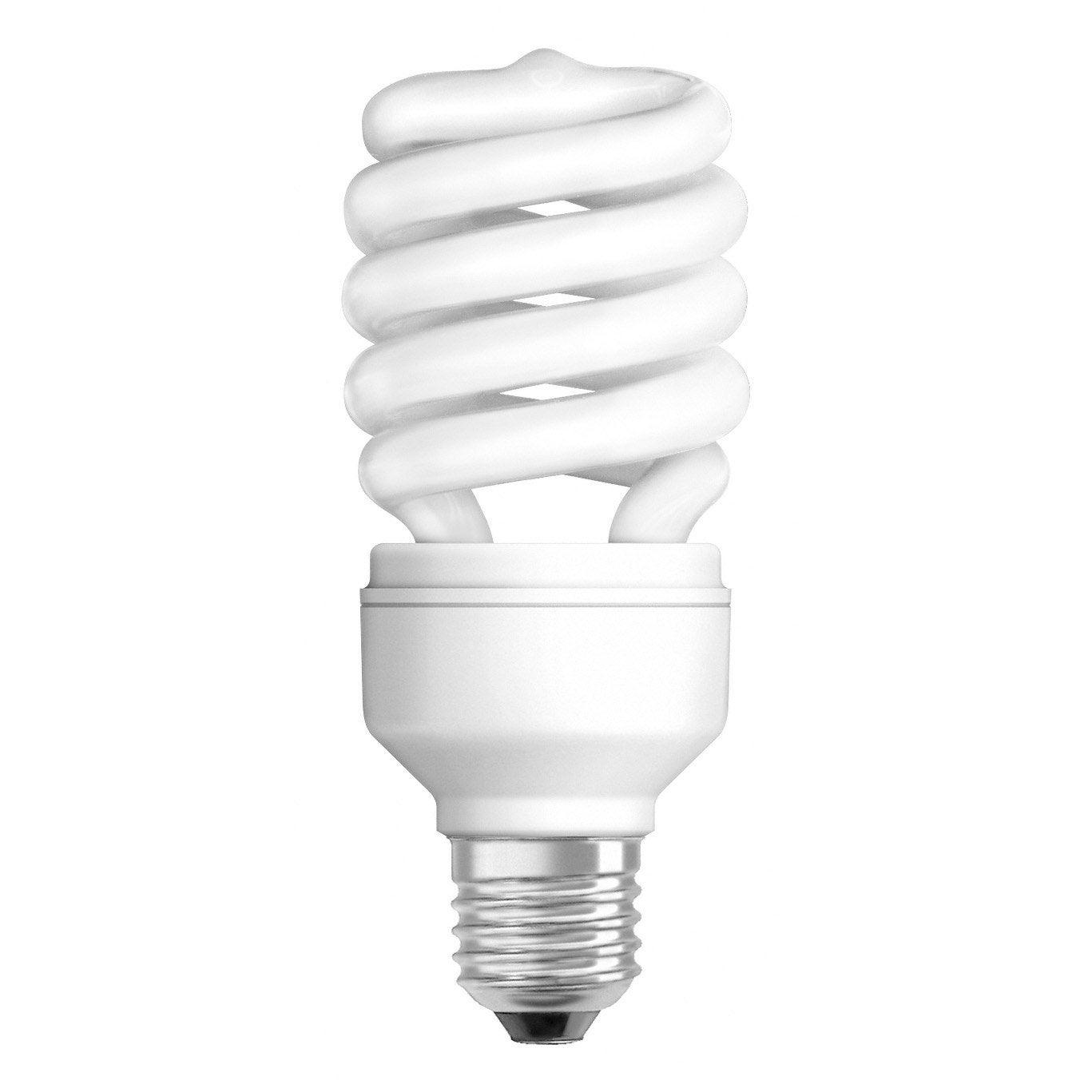 ampoule spirale conomie d 39 nergie 23w osram e27 lumi re. Black Bedroom Furniture Sets. Home Design Ideas