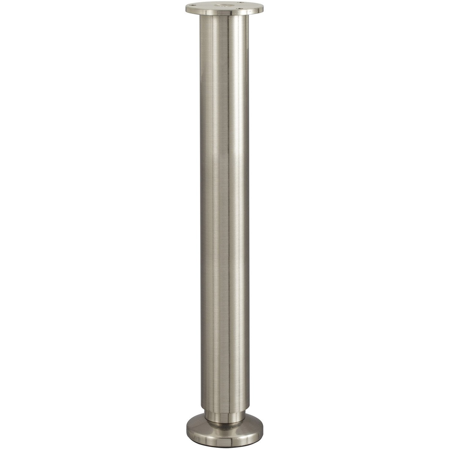 Pied de meuble cylindrique r glable en aluminium chrom gris 35cmx38mm leroy merlin for Produit anti punaise de lit leroy merlin