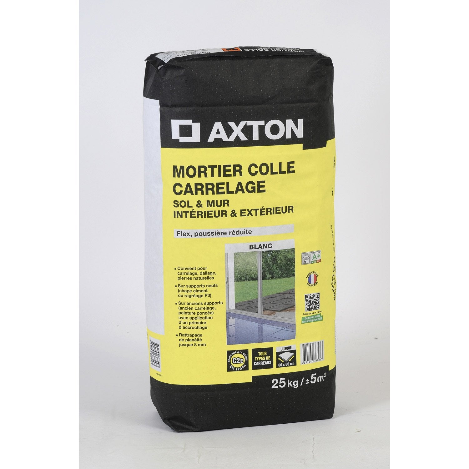 Mortier colle sans poussi re axton 25 kg leroy merlin for Colle carrelage exterieur leroy merlin