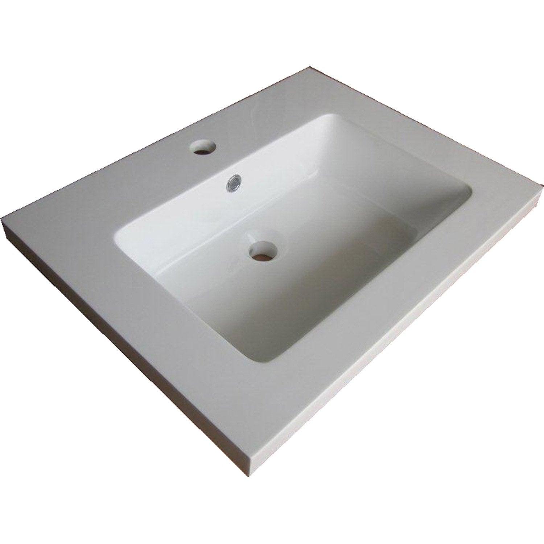 Meuble sous vasque fjord r sine de synth se 60 cm leroy for Meuble sous vasque 60 cm