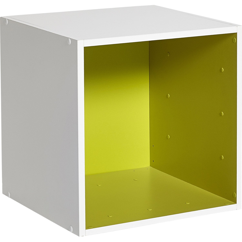 etag re 1 case multikaz vert blanc x x cm leroy merlin. Black Bedroom Furniture Sets. Home Design Ideas