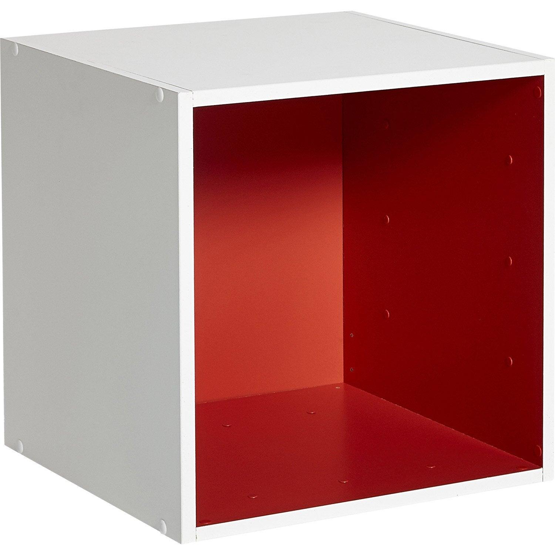 Etag re 1 case multikaz rouge l35 2 x h35 2 cm leroy merlin - Cube etagere leroy merlin ...