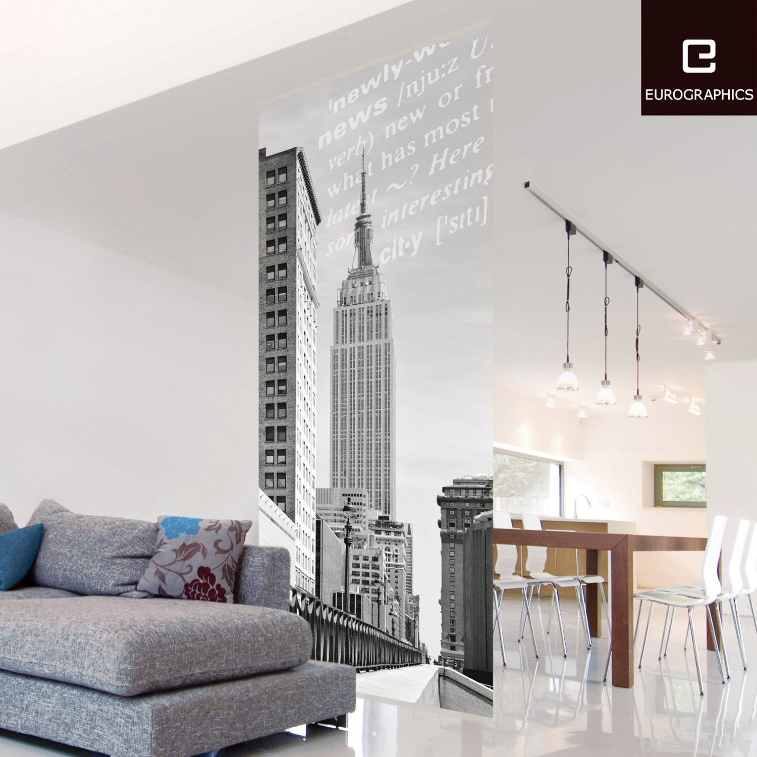 cloison d corative new york empire state building 100 x 240 cm leroy merlin. Black Bedroom Furniture Sets. Home Design Ideas