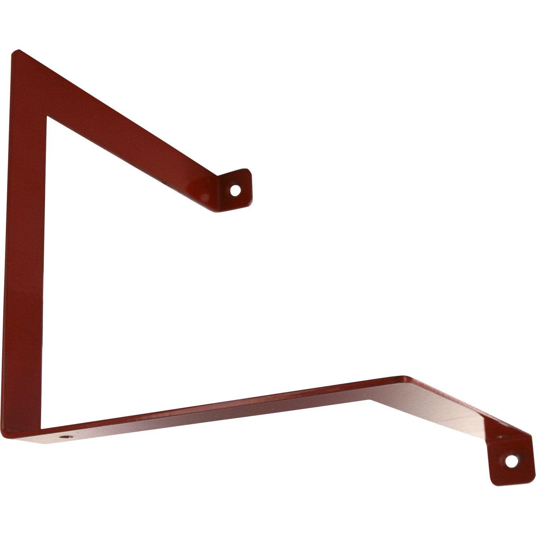 Equerre parenth se acier epoxy rouge x cm leroy merlin - Equerre etagere leroy merlin ...