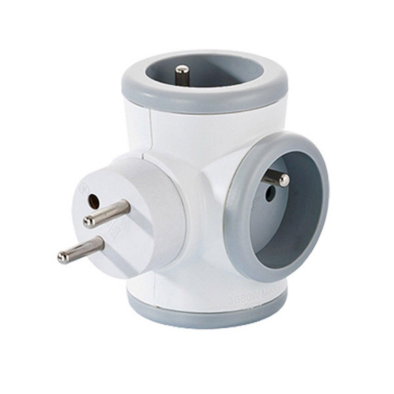 multiprise sans fil avec prise rotative 3 prises watt co leroy merlin. Black Bedroom Furniture Sets. Home Design Ideas
