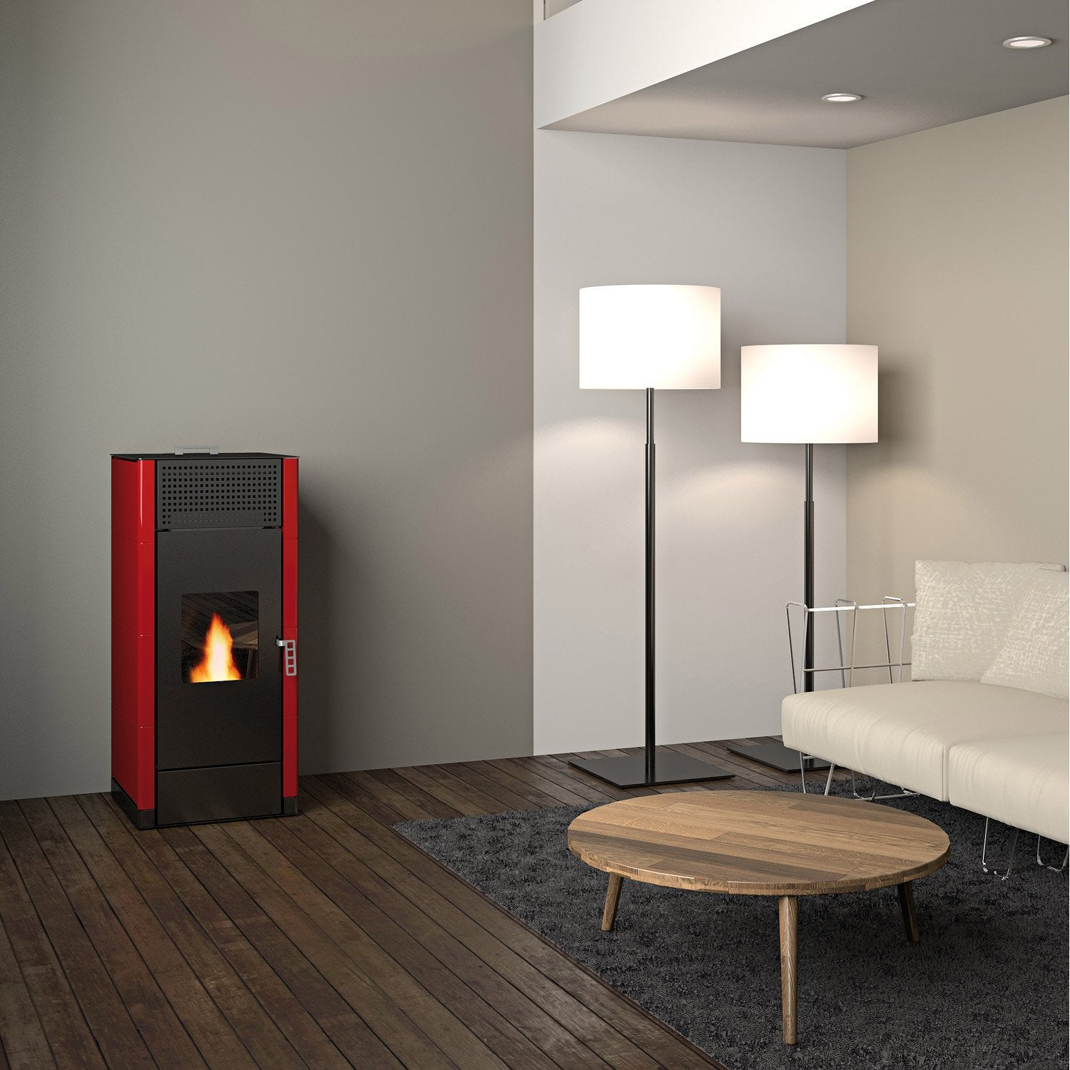 po le granul s freepoint idron 15 bordeaux 15 4 kw leroy merlin. Black Bedroom Furniture Sets. Home Design Ideas