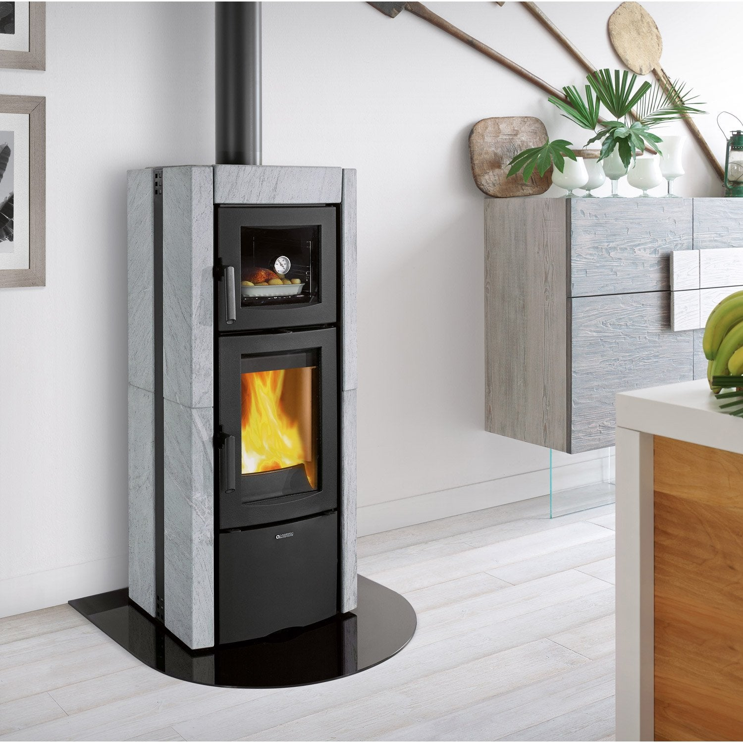 po le bois nordica ester forno pierre ollaire 10 3 kw leroy merlin. Black Bedroom Furniture Sets. Home Design Ideas