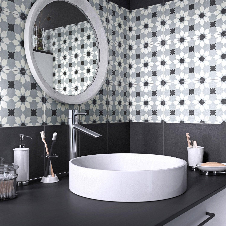 Carreau de ciment belle poque d cor lucie gris noir et for Salle de bain belle epoque