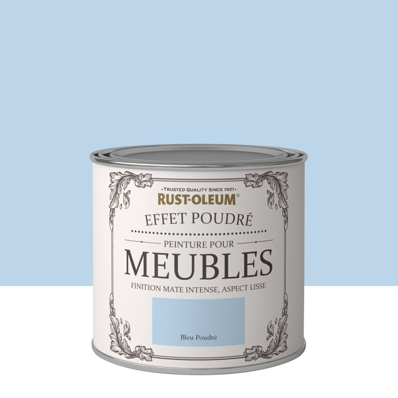 Peinture pour meuble objet et porte poudr rustoleum bleu poudr 0 5 l leroy merlin for Peinture porte interieure leroy merlin