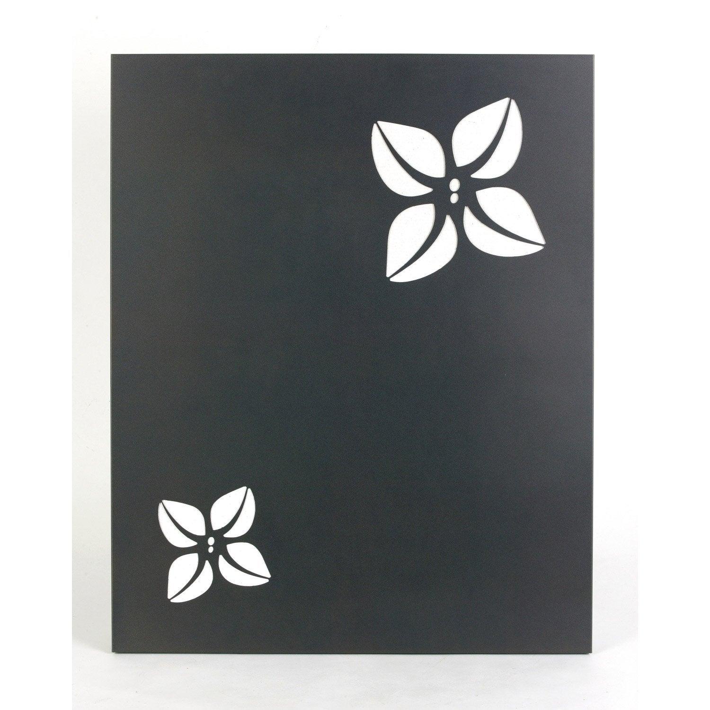 Plaque de protection murale en acier coloris noir givr - Plaque magnetique leroy merlin ...