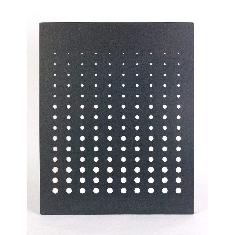 plaque de protection murale en acier coloris noir givr simetria 80 x 100 cm leroy merlin. Black Bedroom Furniture Sets. Home Design Ideas